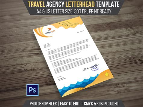 Travel Agency Letterhead Psd Template Landisher Travel Agency Template