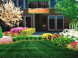 Home Backyard Landscaping Ideas Garden Design Front Of House Simple Landscape Ideas For With Fir Tree Green Home Exterior