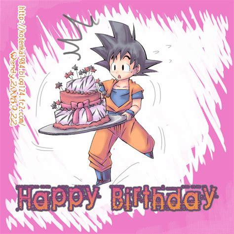 imagenes de anime que digan feliz cumple goku de dragon ball te desea un happy birthday ツ