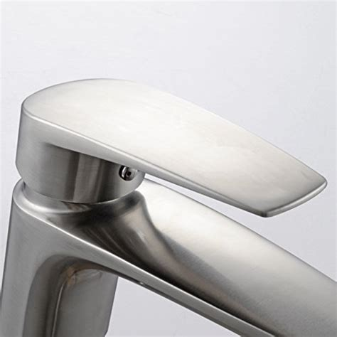 lead free solid 304 stainless steel european style pull kes lead free bathroom sink faucet sus 304 stainless steel