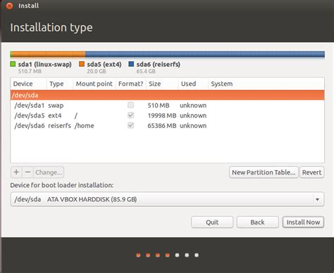 guide for ubuntu install ubuntu on pc with manual partitioning romper