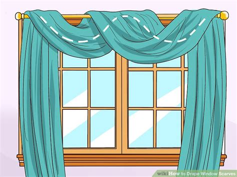 how to hang a swag scarf curtain how to drape window scarves 5 steps with pictures wikihow