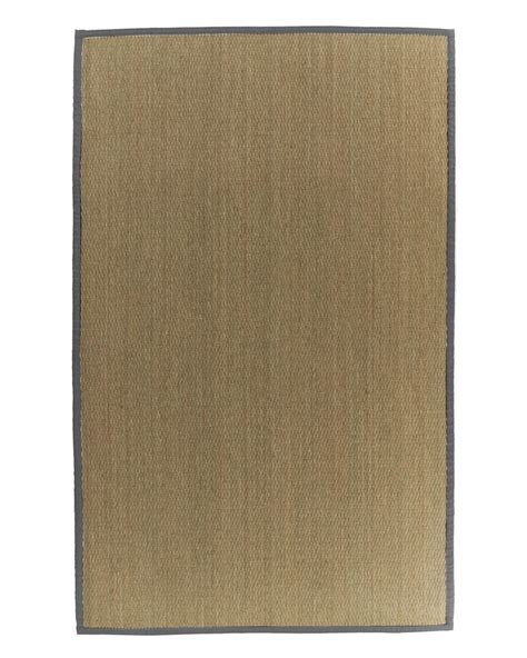 home depot seagrass rug lanart rug seagrass bound burgundy 34 4 ft x 6 ft area rug the home depot canada