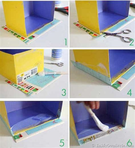 How To Decoupage A Box - map covered shelf organizing using shoeboxes decoupage