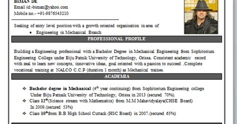 Best Mechanical Engineering Resume Format by Mechanical Engineering Resume Format