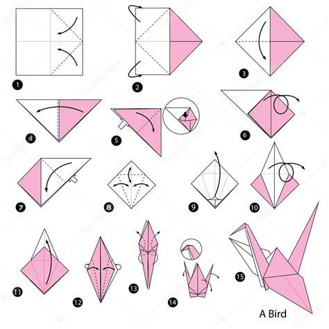 instru 231 245 es passo a passo como fazer o p 225 ssaro de origami a