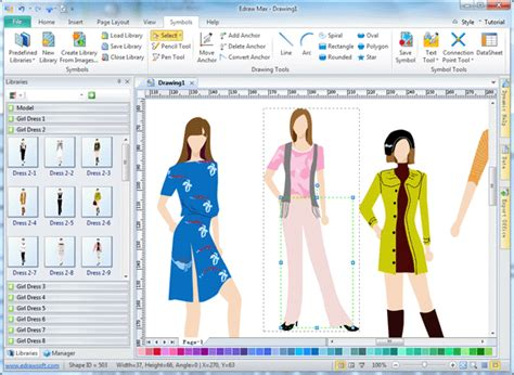 simple design program fashion design program edraw