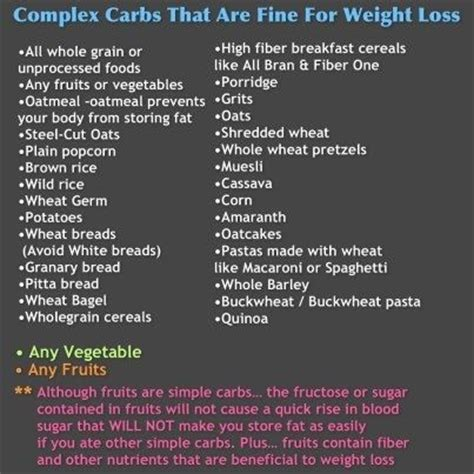 list of carbohydrates carbohydrates list of complex carbohydrates