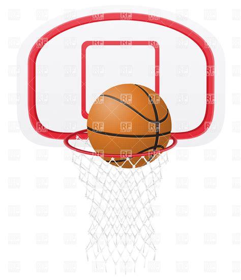 Bola Basketring basketball in the basket royalty free vector clip