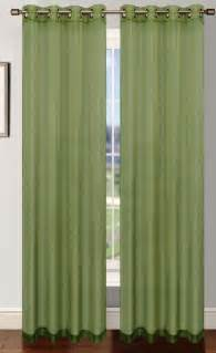 3 Inch Rod Pocket Valances Platinum Sheer Voile Curtain With Grommets Sage Green