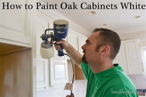 How To Paint Oak Cabinets White Painting Pinterest How To Paint Oak Kitchen Cabinets White