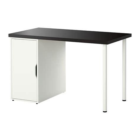 linnmon alex table black brown white ikea