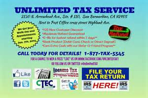 unlimited tax services giving back to the community one