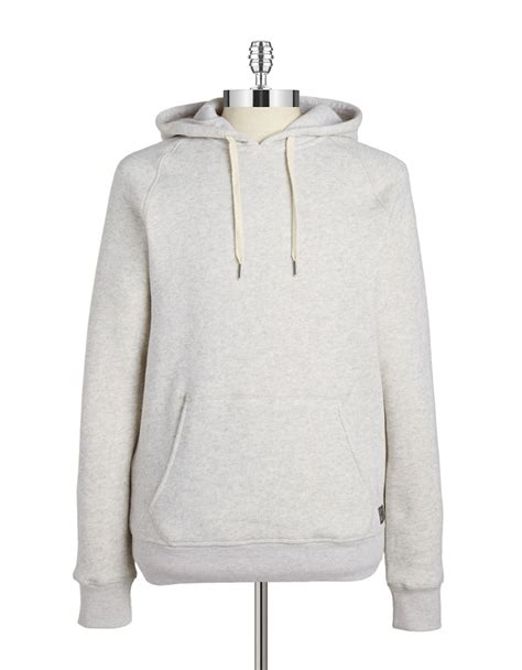 Hoodie Quicksilver Grey Grey01 lyst original penguin fleece lined hoodie in gray for