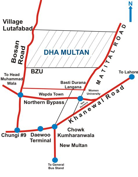 Dha Search Dha Multan Dha Map