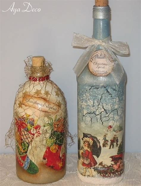 Bottle Decoupage - 164 best images about decoupage bottles on