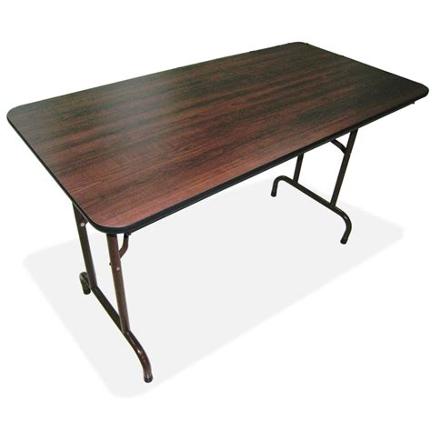 folding table top lorell economy folding table rectangle top 60 quot table