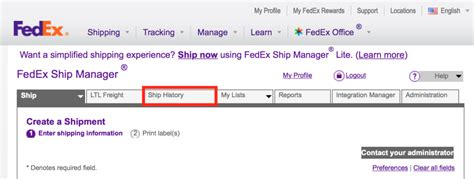 does fedex ship on guide how to view past shipment details and tracking