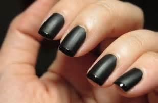 Black Nail by Black Matte Nails Black Matte Glossy Tip Butter