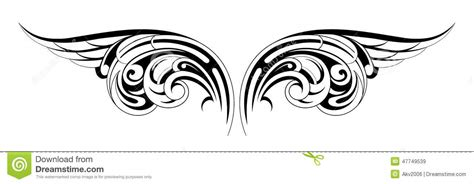 tattoo tribal wings designs wings tattoo stock vector image 47749539