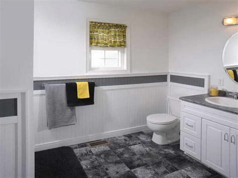 modern bathroom with wainscoting ideas with wainscoting