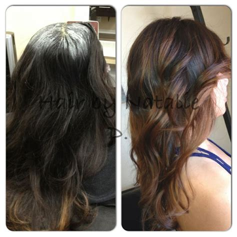should wash hair before bayalage before and after balayage highlights hair pinterest