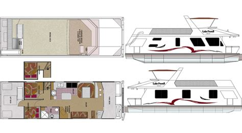 boat floor plans custom houseboat sales and manufacturing floorplans
