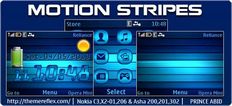 themes nokia x2 01 by princeabid motion stripes live theme for nokia c3 00 x2 01 205