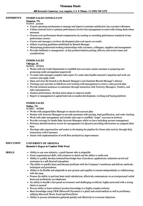 Sle Resume For Inside Sales Position great sales resume exles photos resume ideas
