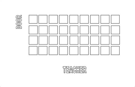 classroom seating chart template 14 exles in pdf
