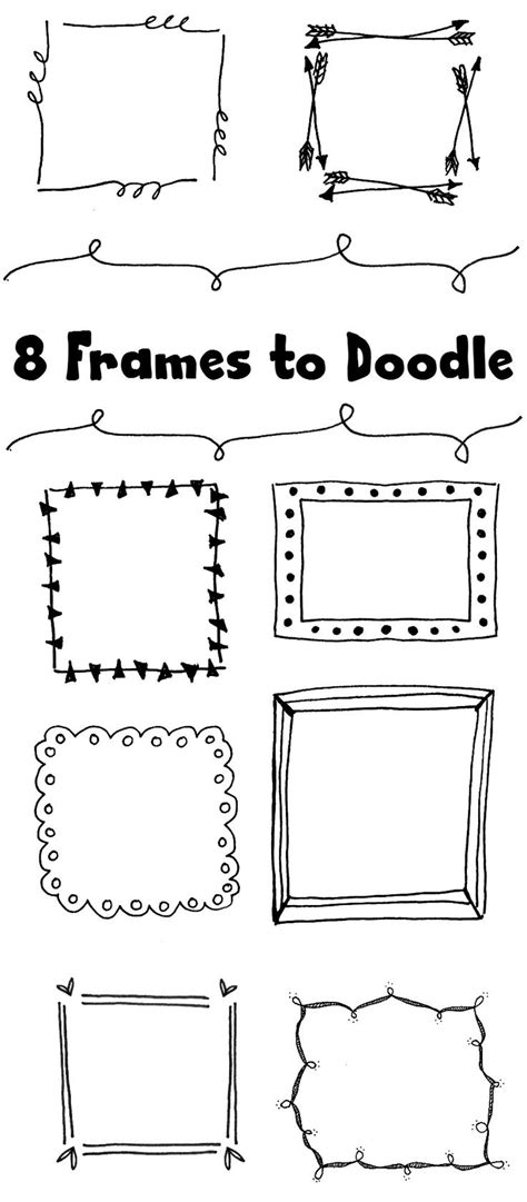 how to draw doodle frames 8 frames to doodle doodles jazz and
