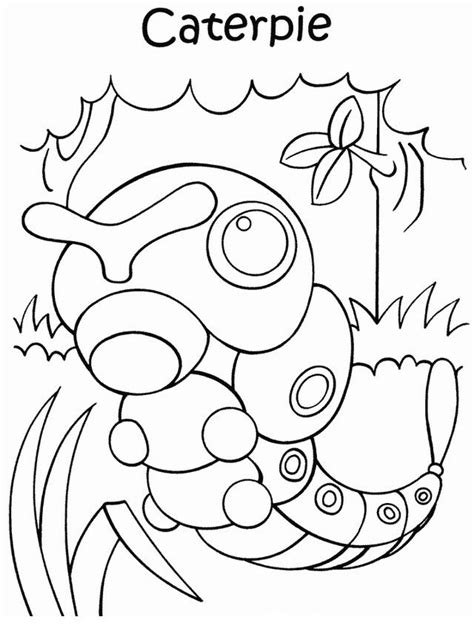pokemon coloring pages caterpie skrive ut pokemon tegninger 44