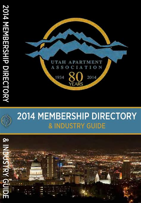 Apartment Association List Issuu 2014 Utah Apartment Association Directory