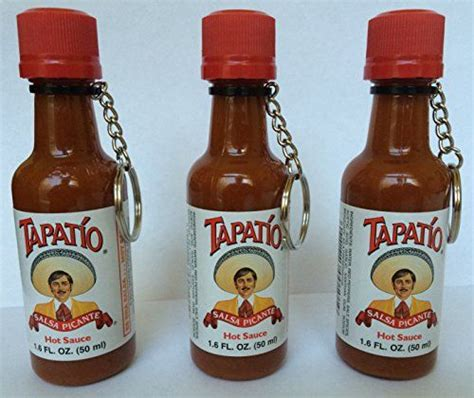 tapatio keychain never leave home without it 3x best tapatio sauce