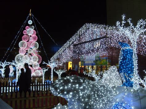 panoramio photo of la d 233 fense christmas lights