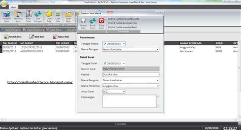 aplikasi pengolahan surat masuk dan surat keluar menggunakan delphi7