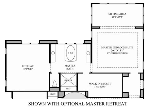 master retreat floor plans toll brothers at hidden canyon marbella collection the