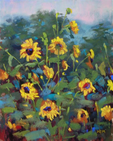 sunflower patch painting my world september 2011