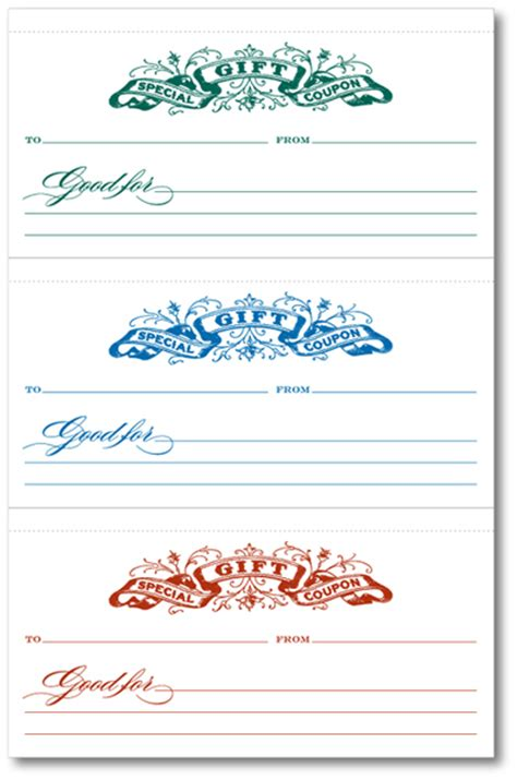 free printable coupon template gift coupon templates printable search results