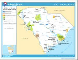 carolina lands map map of south carolina map federal lands and indian