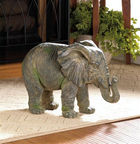 elephant home decor weathered elephant statue wholesale at koehler home decor