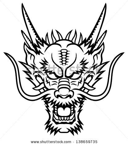 dragon face tattoo stock photos images pictures