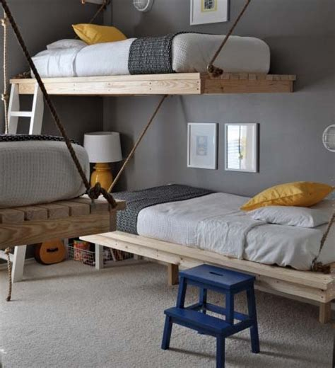 hanging bed diy diy hanging beds for stylish boys bedroom designs