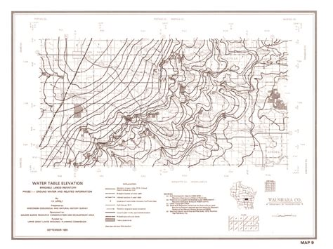 the location of the water table is subject to change wisconsin geological history survey 187 plate 9