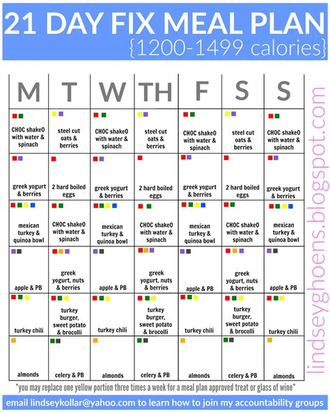 how to create a 21 day fix meal plan weekly meal planner 21 day fix meal plans lindsey ghoens