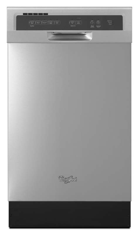 whirlpool 18 inch compact tub dishwasher in mono