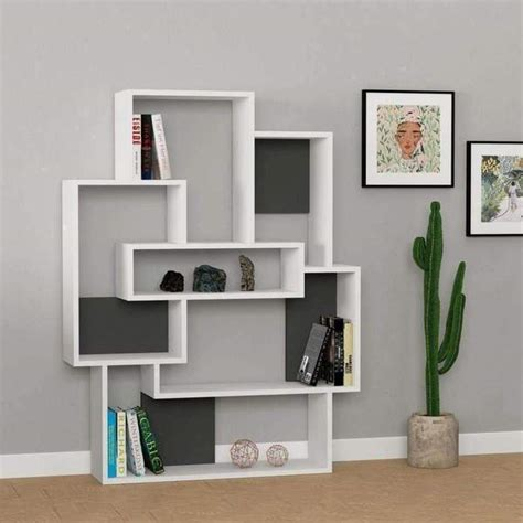 buy modern concept bookcase unique shelving  white red