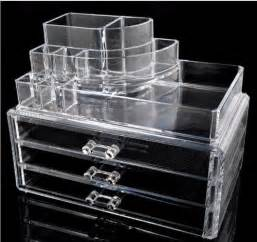 acrylic makeup organizer with lipstick holder