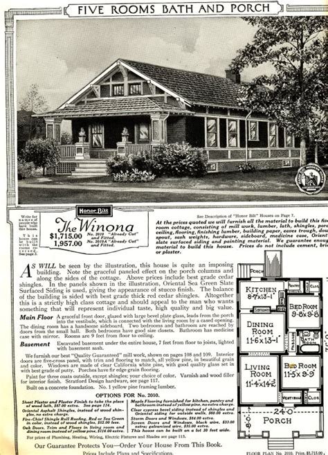 sears kit homes floor plans the sears winona as featured in the 1921 sears modern