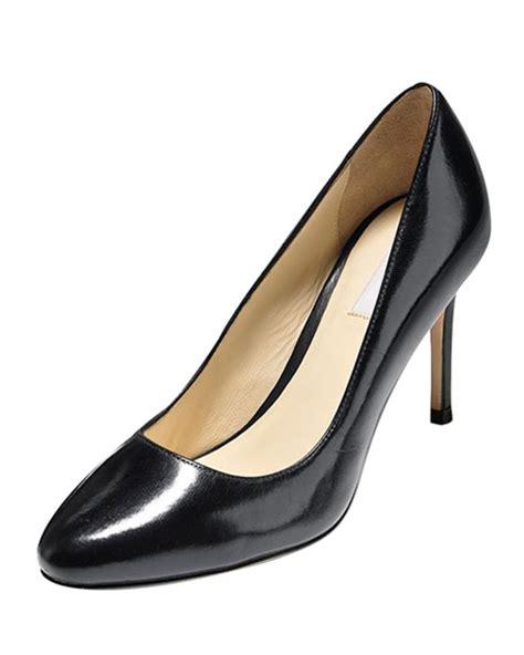 Heels Grd 209 cole haan bethany almond toe leather black neiman